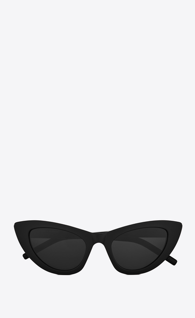 SAINT LAURENT NEW WAVE Woman NEW WAVE 213 LILY sunglasses in black acetate and gray lenses a_V4