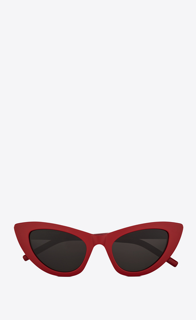 SAINT LAURENT NEW WAVE Woman NEW WAVE 213 LILY sunglasses in red acetate and gray lenses a_V4