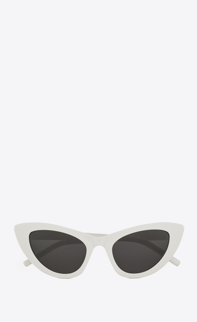 SAINT LAURENT NEW WAVE Woman NEW WAVE 213 LILY sunglasses in ivory acetate and gray lenses a_V4