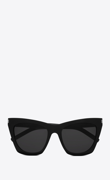 SAINT LAURENT NEW WAVE Woman NEW WAVE 214 KATE sunglasses in black acetate and gray lenses a_V4