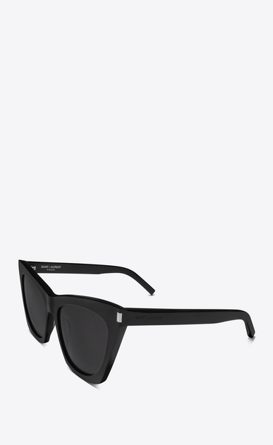SAINT LAURENT NEW WAVE Woman NEW WAVE 214 KATE sunglasses in black acetate and gray lenses b_V4