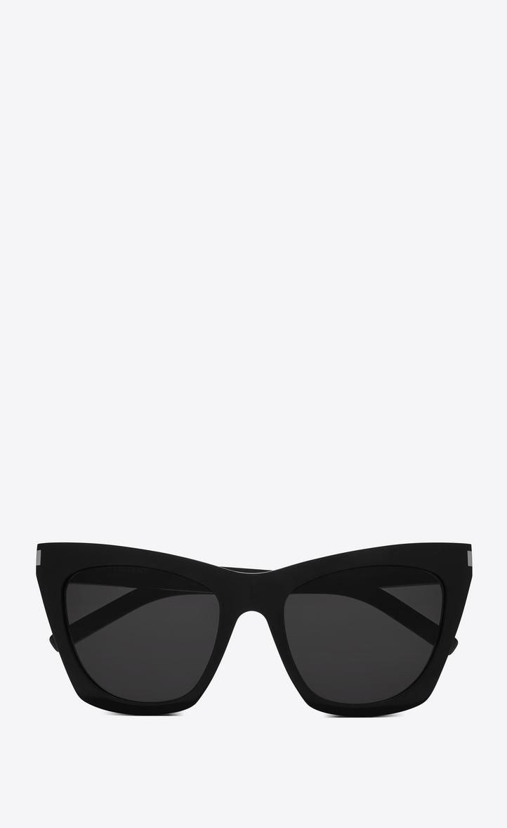 95e8c86b92 Saint Laurent New Wave 214 Kate Sunglasses In Black Acetate And Gray Lenses
