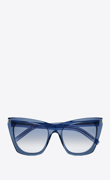 SAINT LAURENT NEW WAVE Woman NEW WAVE 214 KATE sunglasses in clear blue acetate and blue lenses a_V4