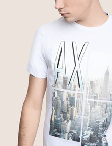 ARMANI EXCHANGE NYC PHOTOBLOCK CREW Long-Sleeved Tee Man b