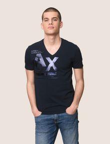 ARMANI EXCHANGE UTILITY LINES LOGO TEE Logo T-shirt Man f