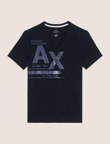 ARMANI EXCHANGE UTILITY LINES LOGO TEE Logo T-shirt Man r