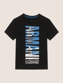 ARMANI EXCHANGE VERTICAL CITY CREWNECK Logo T-shirt Man r