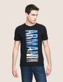ARMANI EXCHANGE VERTICAL CITY CREWNECK Logo T-shirt Man f