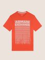 ARMANI EXCHANGE ALLOVER TICKER LOGO CREW Logo T-shirt Man r