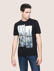 ARMANI EXCHANGE NYC PHOTOBLOCK CREW Logo T-shirt Man f