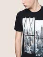 ARMANI EXCHANGE NYC PHOTOBLOCK CREW Logo T-shirt Man b