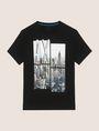 ARMANI EXCHANGE NYC PHOTOBLOCK CREW Logo T-shirt Man r