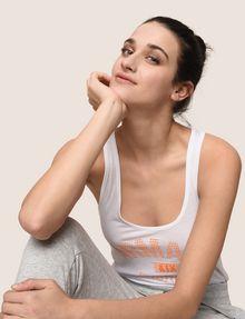 ARMANI EXCHANGE DÉBARDEUR CLASSIQUE À LOGO INCURVÉ T-shirt au logo Femme a