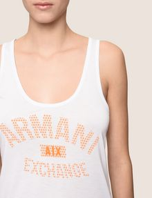 ARMANI EXCHANGE CLASSIC CURVED LOGO TANK Logo T-shirt Woman b