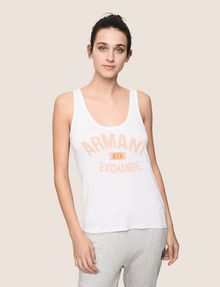 ARMANI EXCHANGE CLASSIC CURVED LOGO TANK Logo T-shirt Woman f