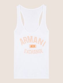 ARMANI EXCHANGE DÉBARDEUR CLASSIQUE À LOGO INCURVÉ T-shirt au logo Femme r
