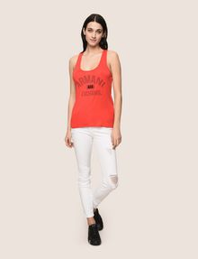 ARMANI EXCHANGE CLASSIC CURVED LOGO TANK Logo Tank Top Woman d