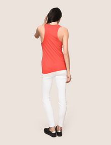 ARMANI EXCHANGE CLASSIC CURVED LOGO TANK Logo Tank Top Woman e