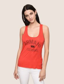ARMANI EXCHANGE CLASSIC CURVED LOGO TANK Logo Tank Top Woman f
