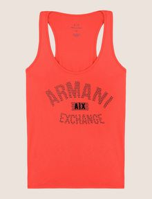 ARMANI EXCHANGE CLASSIC CURVED LOGO TANK Logo Tank Top Woman r