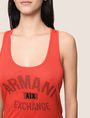 ARMANI EXCHANGE CLASSIC CURVED LOGO TANK Logo Tank Top Woman b