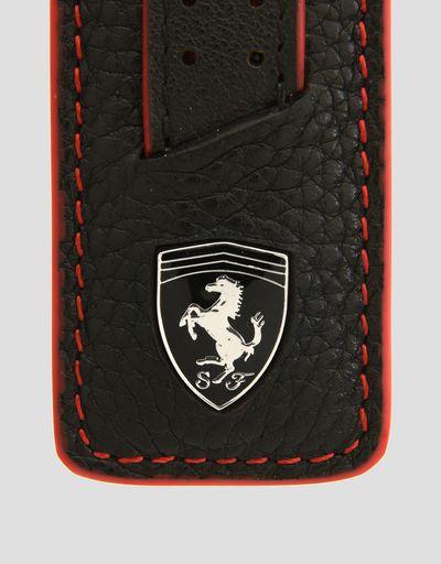 Scuderia Ferrari Online Store - Keyring in hammered leather - Keyholders