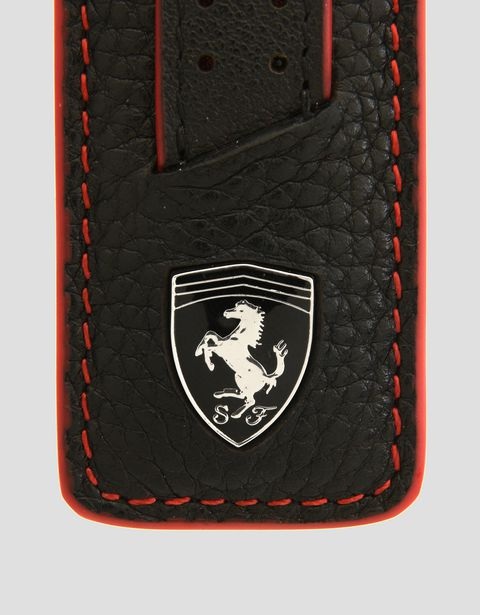 Scuderia Ferrari Online Store - Keyring in hammered leather -