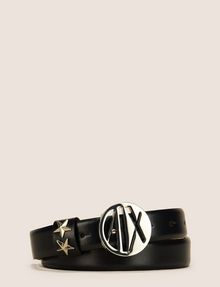 ARMANI EXCHANGE MADE IN ITALY STAR-STUDDED LOGO BELT Belt Woman f
