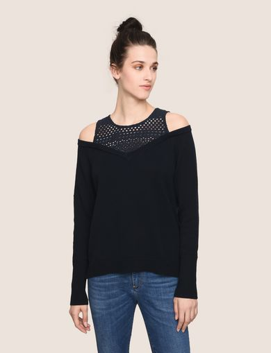 OFF-THE-SHOULDER LAYERED SWEATER