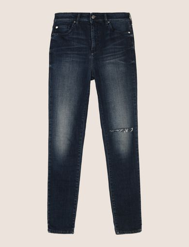 RAZORED HIGH-RISE SUPER-SKINNY JEANS