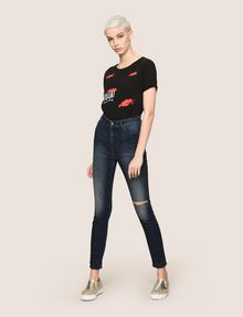ARMANI EXCHANGE RAZORED HIGH-RISE SUPER-SKINNY JEANS Skinny jeans Woman d