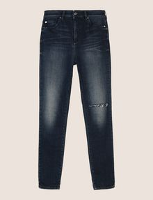 ARMANI EXCHANGE RAZORED HIGH-RISE SUPER-SKINNY JEANS Skinny jeans Woman r