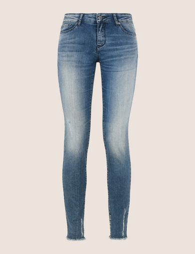 SUPER-SKINNY LADDER RUN RAW HEM JEAN