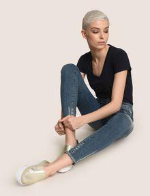 ARMANI EXCHANGE SUPER-SKINNY LADDER RUN RAW HEM JEAN Skinny jeans Woman a