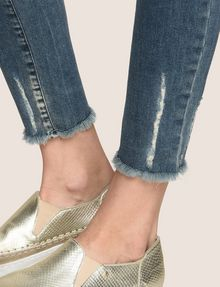 ARMANI EXCHANGE SUPER-SKINNY LADDER RUN RAW HEM JEAN Skinny jeans Woman b