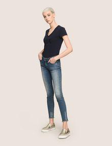 ARMANI EXCHANGE SUPER-SKINNY LADDER RUN RAW HEM JEAN Skinny jeans Woman d