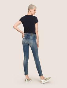 ARMANI EXCHANGE SUPER-SKINNY LADDER RUN RAW HEM JEAN Skinny jeans Woman e