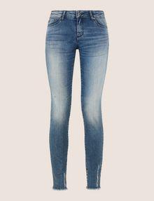 ARMANI EXCHANGE SUPER-SKINNY LADDER RUN RAW HEM JEAN Skinny jeans Woman r
