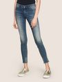 ARMANI EXCHANGE SUPER-SKINNY LADDER RUN RAW HEM JEAN Skinny jeans Woman f