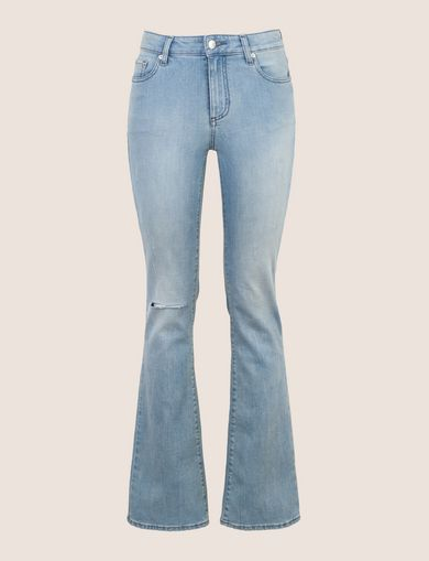 RAZORED POWER STRETCH FLARE JEANS