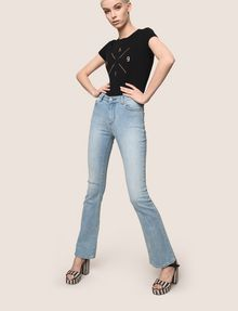ARMANI EXCHANGE RAZORED POWER STRETCH FLARE JEANS Flare Jean Woman a