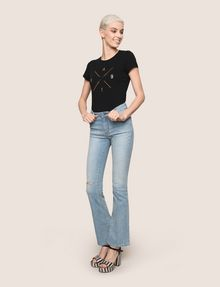 ARMANI EXCHANGE RAZORED POWER STRETCH FLARE JEANS Flare Jean Woman d