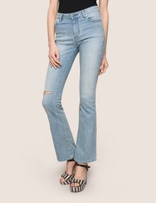 ARMANI EXCHANGE RAZORED POWER STRETCH FLARE JEANS Flare Jean Woman f