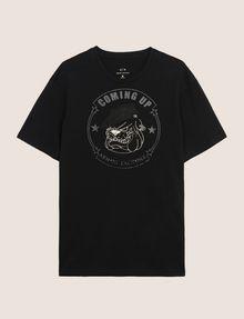 ARMANI EXCHANGE BULLDOG LOGO CREWNECK TEE Logo T-shirt Man r