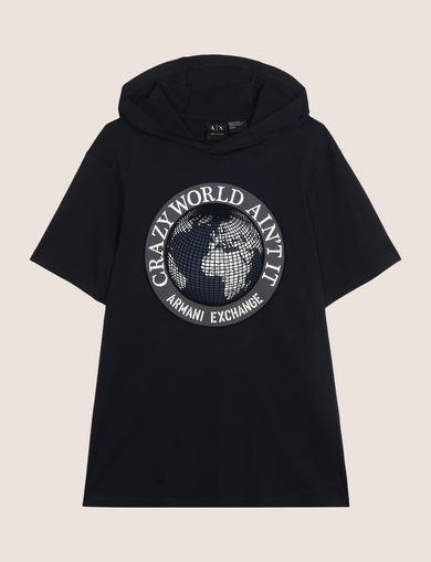 CRAZY WORLD HOODED TEE