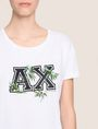 ARMANI EXCHANGE EMBROIDERED BOTANICAL LOGO TEE Logo T-shirt Woman b