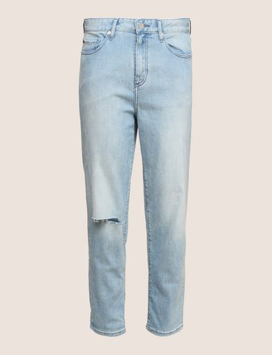 RAZORED POWER STRETCH BOYFRIEND JEANS