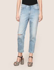 ARMANI EXCHANGE RAZORED POWER STRETCH BOYFRIEND JEANS Boyfriend Denim Woman f