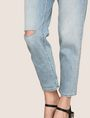 ARMANI EXCHANGE RAZORED POWER STRETCH BOYFRIEND JEANS Boyfriend Denim Woman b