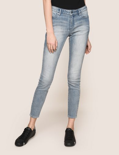 WASHED LIGHT INDIGO SUPER-SKINNY JEANS